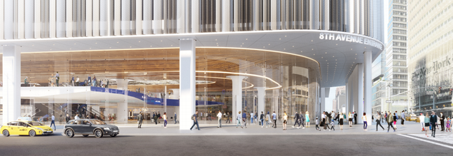 Render of a new Port Authority bus terminal